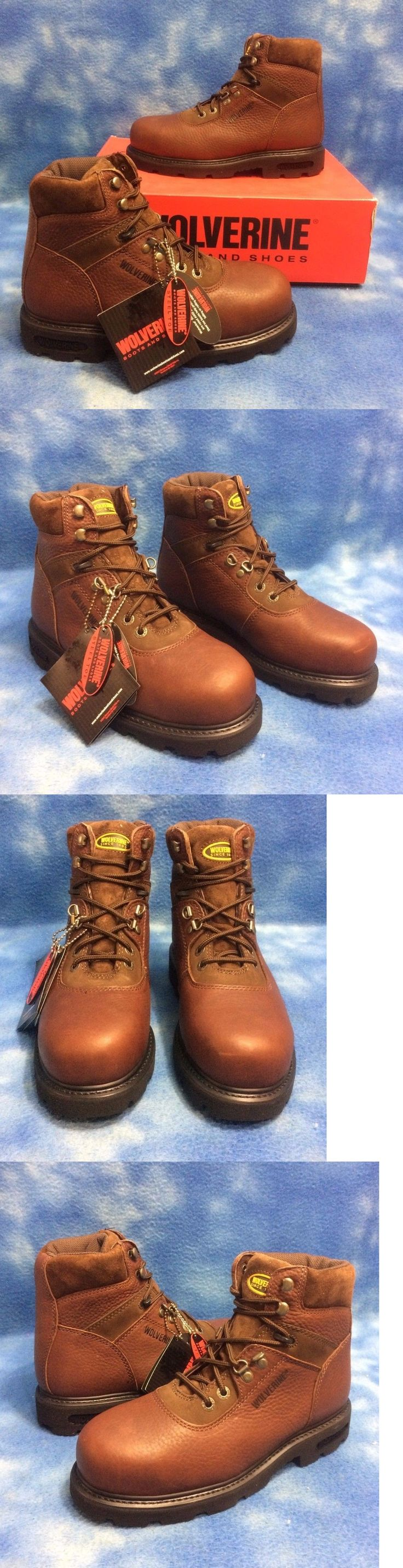 Occupational 11501: Men~Wolverine 6 Brown Steel Toe Slip Resistant Saftety Work Hiking Boot Sz 7.5M -> BUY IT NOW ONLY: $54.45 on eBay!