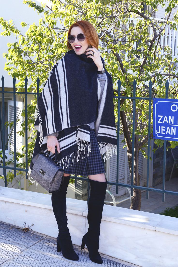 Who can resist to a poncho outfit? Visit Lili Hatzopoulos boutique for more fashion