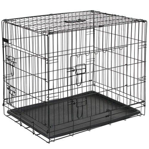 Qulity Hondenbench 92 cm. Zwart - 2 beveiligde toegangsdeuren