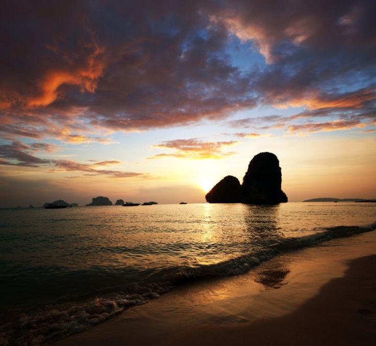 Krabi - Thajsko, západ slunce