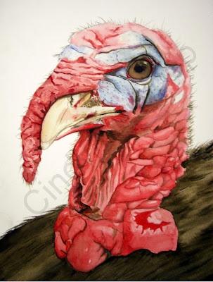 Thanksgiving diner :-)  Illustration of a turkey  http://cindyheijkoop.blogspot.com/