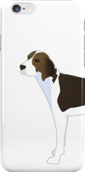 Treeing Walker Coonhound Basic Breed Silhouette Illustration by TriPodDogDesign