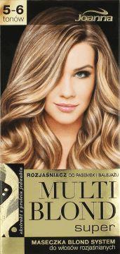 Rozjaśniacz Multi Blond Super spełni Twoje marzenia o balejażu i świetlistych pasemkach, rozjaśnionych nawet o 6 tonów. Zawiera ekstrakt z protein jedwabiu, który chroni włosy już w trakcie zabiegu. Dzięki niemu zyskują one satynową miękkość, jedwabistość i elastyczność. Aby w pełni zadbać o kondycję Twoich włosów dołączyliśmy maseczkę Blond System opracowaną specjalnie do pielęgnacji włosów rozjaśnionych. Testowany dermatologicznie. Laboratorium Kosmetyczne Joanna Sp.j. B.Górka, R. Korczak…