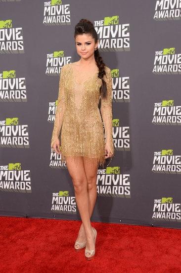 Selena Gomez arrived at the MTV 2013 Movie Awards