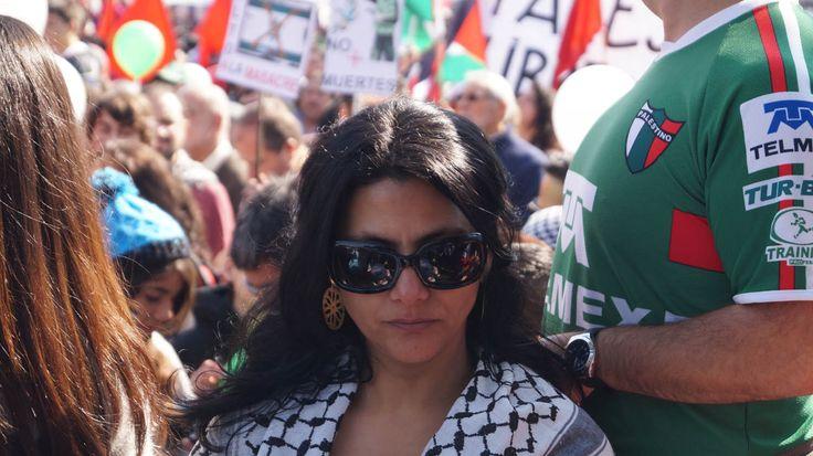 Marcha en Plaza Italia en favor de Palestina