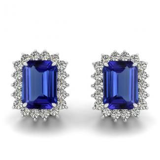 Get this beautiful pair of 1.6ctw Emerald Cut Tanzanite Earring online for just $1351.99