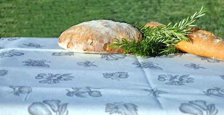 Manteles en damasco mezcla lino-algodón