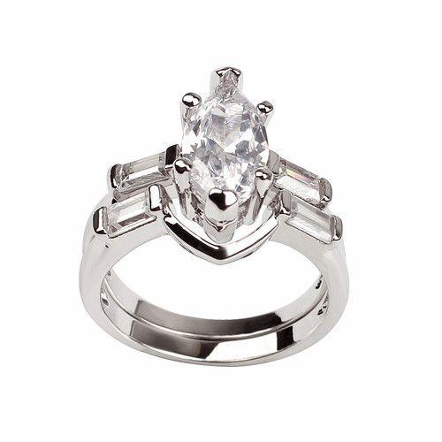 Nichole, Gorgeous Marquise Wedding Ring Set