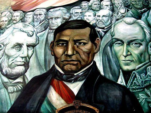 Benito Juárez. Detalle del mural en Palacio de Gobierno. Chihuahua.