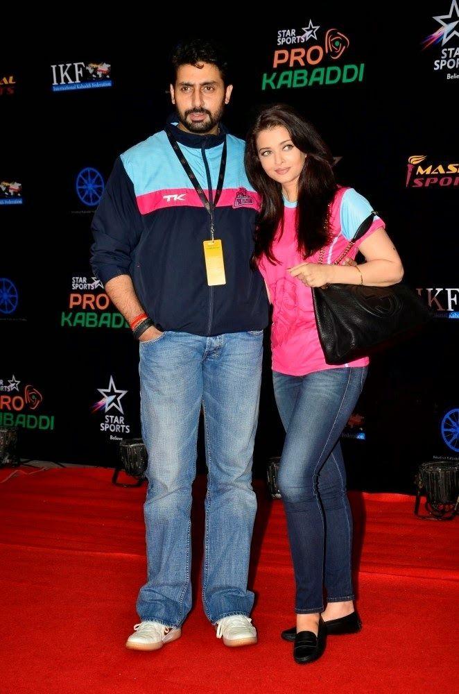 Aishwarya Rai and Abhishek Bachchan at Pro Kabaddi League Final. | Bollywood, Actresses, Magazines, Movies, Pictures Gallery