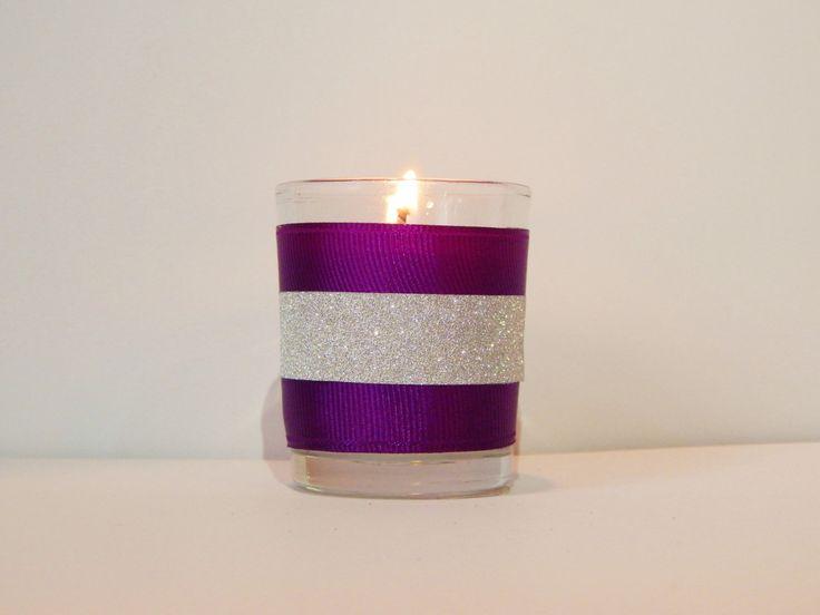 Purple Wedding Favors - Puple Wedding Decor - Party Favor - Purple Candles - Set…