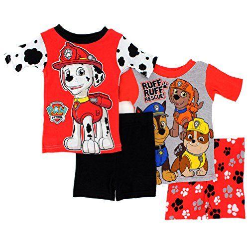 Paw Patrol Toddler 4 piece Pajamas Set  #Marshall #Chase #Rubble #Zuma #RescuePups  #FunStartsHere #EverythingCharacter www.YankeeToyBox.com Pjs Jammies Sleepwear