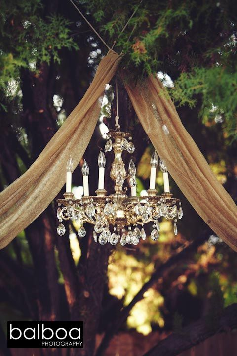 372 best images about wedding ceremony ideas on pinterest for Rustic outdoor chandelier