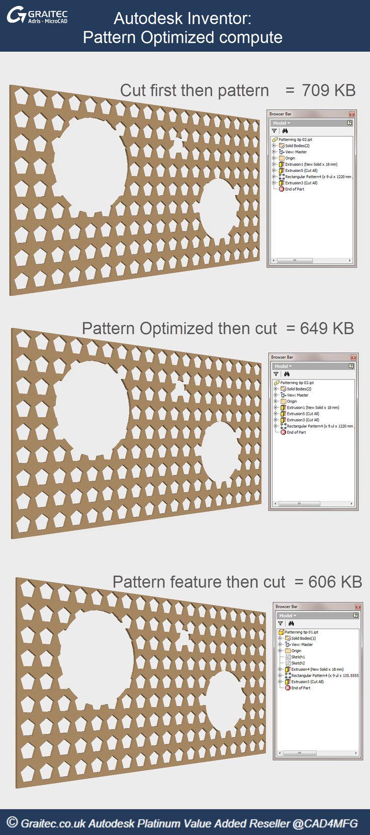 Autodesk Inventor: Pattern Optimized Compute