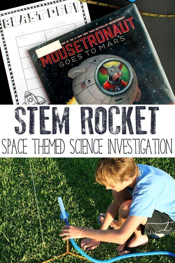 Using a Stomp rocket design, and conduct a STEM investigation into the factors that make it go higher and further. A simple STEM Space Investigation. via @rainydaymum