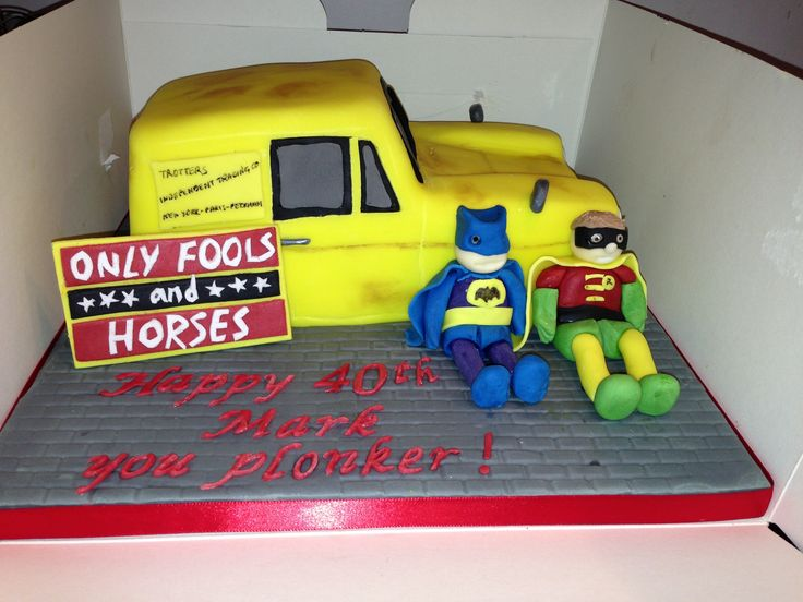 Only Fools and Horses Cake by Bodelicious Cakes and Bakes. all handmade and fully edible with home made marshmallow fondant.