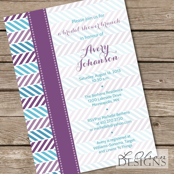 Alternating Chevron Purple U0026 Teal Shower By LOlsonDesigns On Etsy