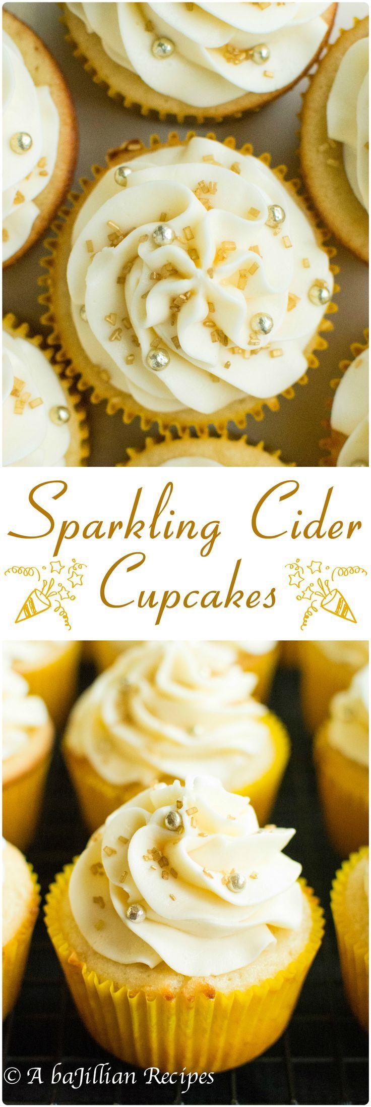 Sparkling Cider Cupcakes