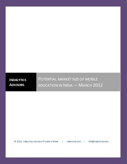 www.indalytics.com - Potential market size of mobile education in India