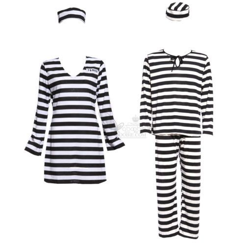 #Adult couples jail prisoner jailbird #convict costume halloween hen #night outfi,  View more on the LINK: http://www.zeppy.io/product/gb/2/371406911192/