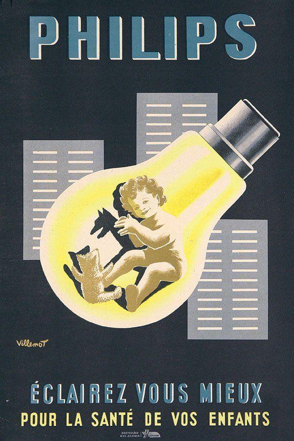 Ampoule Philips - Eclairez mieux pour la santé de vos enfants - 1950 - (Bernard…