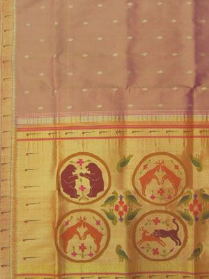 Paithani Saree shikari design with muniya border