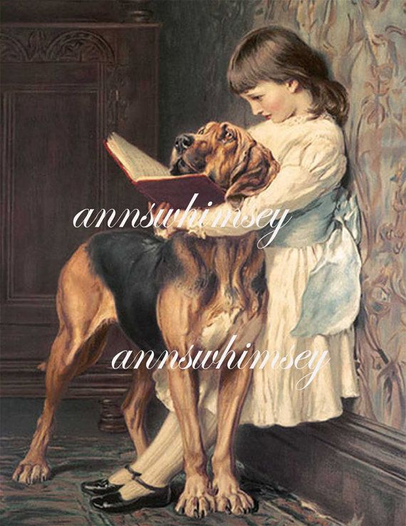 Little Girl Big Dog Compulsory Education RESTORED by annswhimsey