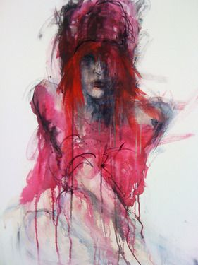 "Saatchi Online Artist Fiona Maclean; Painting, ""Redhead"" #art"