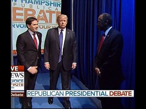 """The Classiest Debate Moment That No-One Noticed–Never Leave A Good Man Down…  2.7.16  """"…what Donald Trump did before the debate even began shows the measure of a real man's worth. Donald Trump showed his leadership by standing right next to his friend, & not walking onto the stage. People often mistake Trump's self-confidence for arrogance or even narcissism. But there is not a narcissist on the planet who would have put themselves into a position like that to assist a competing colleague."""""""
