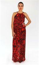 Maeva Dress-dresses-MENA Ball Dress - Red Island Print