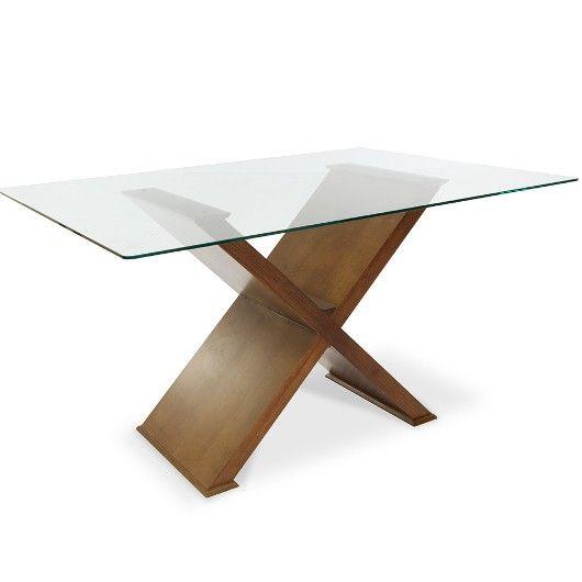Conjunto para Sala de Jantar com Mesa Retangular, 4 Cadeiras e Aparador, Padrão Amêndoa, Cléo