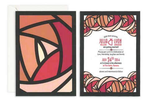 Red Rose Wedding Invitation– Jo's Paperie #wedding #invitations #floral #template