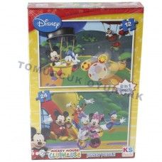 12-24-2İN1-PARÇALI MICKEY MOUSE PUZZLE