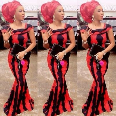 Red And Black Ankara Styles Combinations