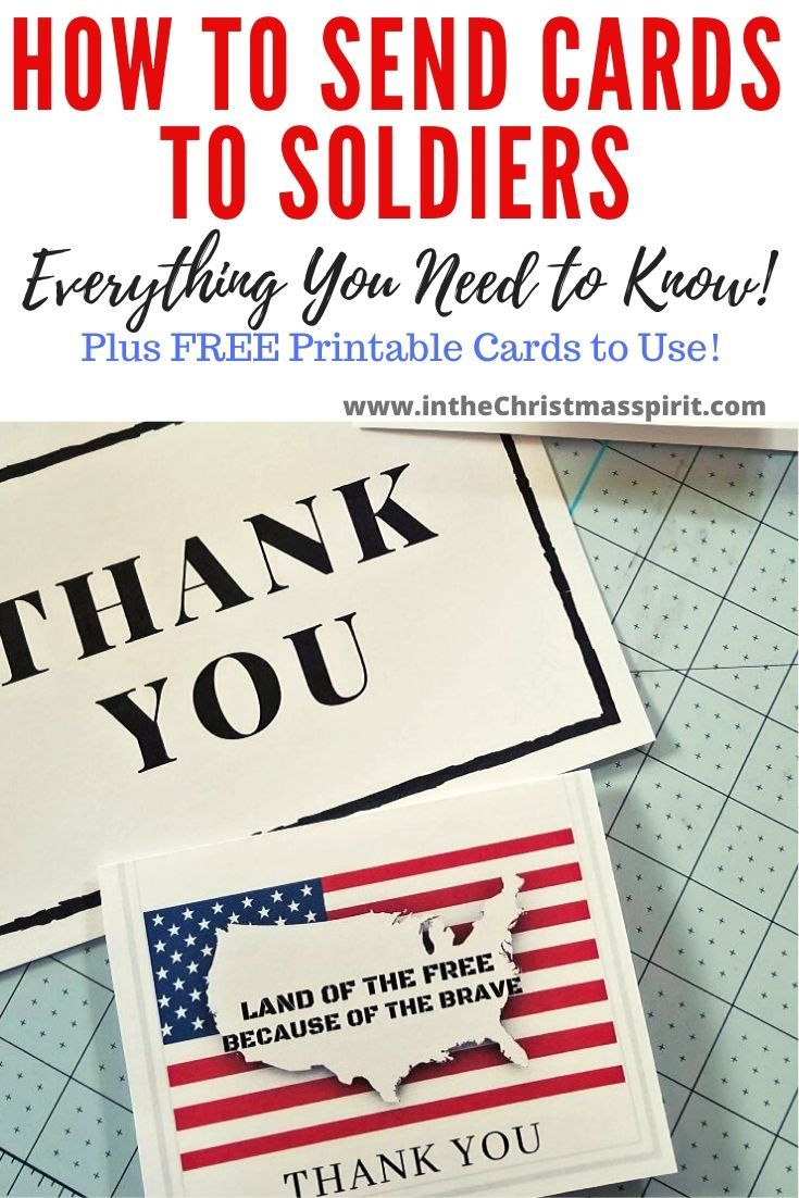 How To Send Christmas Cards To Soldiers 2020 Making Cards for Soldiers: All You Need to Know!   In The