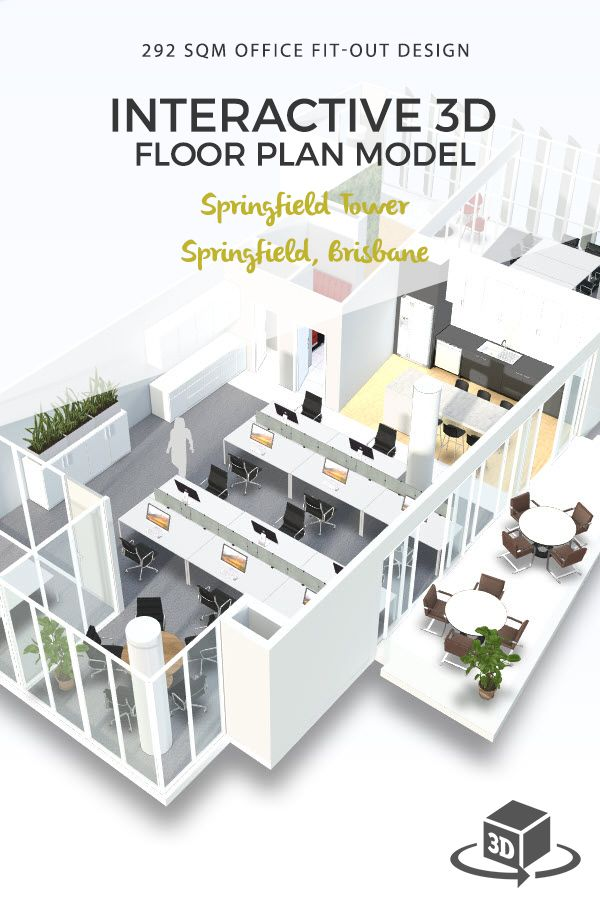 Commercial Office Interactive 3d Floor Plan And Fit Out Design Model For Springfield Tower Springfield Brisbane Get Your Own 3d Model Today At Www Planto3d C