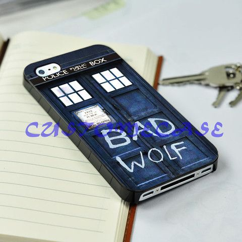 iphone 5/5s/4/4s/5c case,TARDIS DOCTOR WHO BAD WOLF case for iphone an – CELLCUSTOMCASE