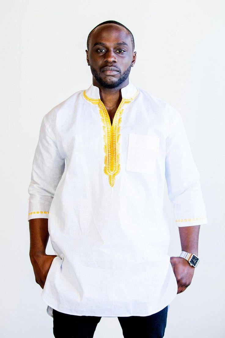 Shirt design in nigeria - Design Of A Diaspora Linen Gold Embroidered By Designofadiaspora 89 99