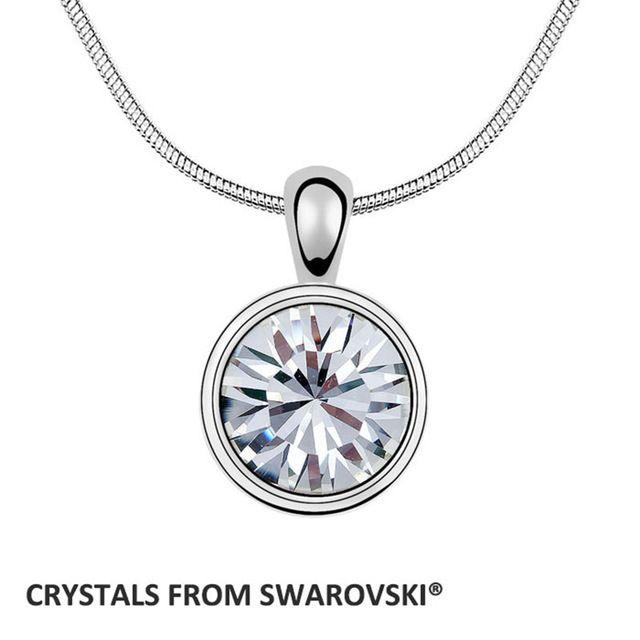 2016 prezzo all'ingrosso rotonda del pendente della collana Cristalli da Swarovski 1088-XIRUS Chaton Pietra Regalo Di Natale