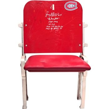 Montreal Canadiens Forum Seat Signed by Jean Beliveau
