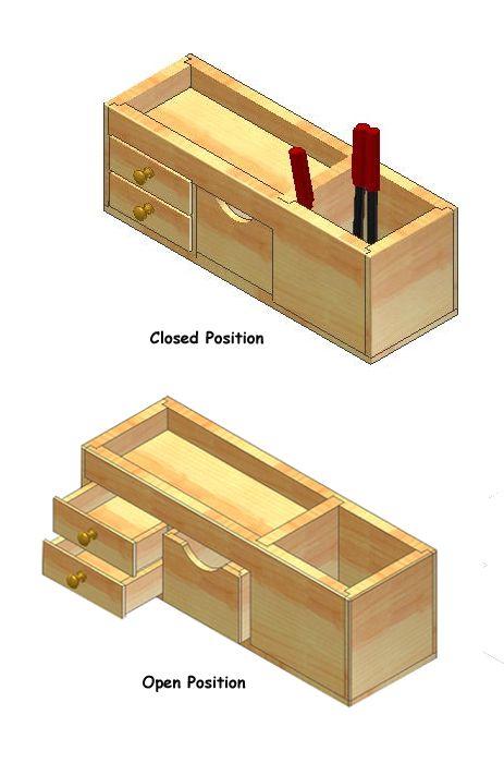 1000 ideas about wooden desk organizer on pinterest for Plan organizer