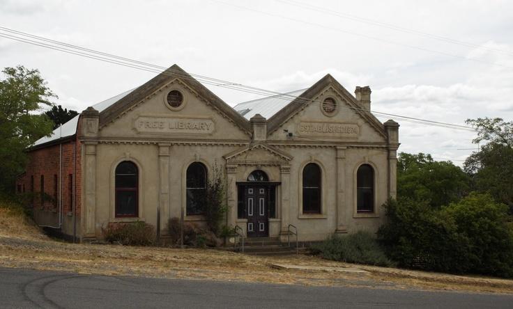 Clunes Free Library, Clunes, Victoria, Australia