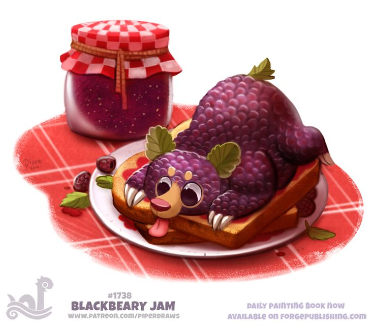 Daily+Painting+1738#+Blackbeary+Jam+by+Cryptid-Creations.deviantart.com+on+@DeviantArt