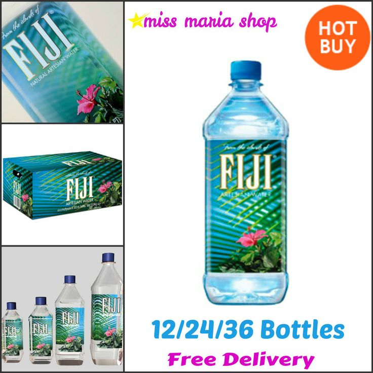 Fiji Artesian Mineral Natural Water 12/24 or 36 Bottles Pure Island Filtration