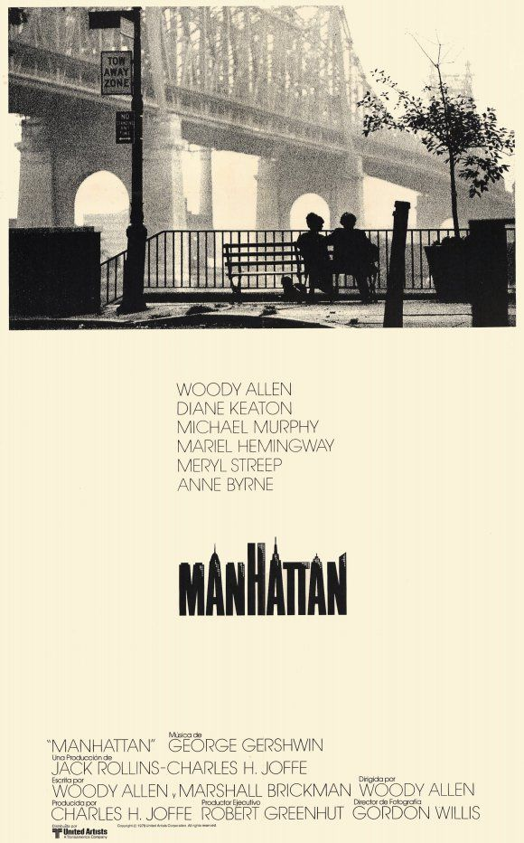 Manhattan | Woody Allen. The best Woody Allen films are the ones without him in it (in my opinion). That said, he's slightly more tolerable in black and white and when flanked by Diane Keaton and Meryl Streep. The movie definitely gives off that romantic old New York vibe but the whole time I couldn't get over what a schmuck Allen's character was and how he was toying with a teenage girl, ick.