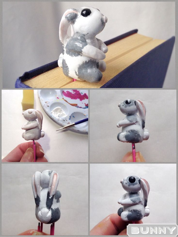 How to paint the polymer bunny.