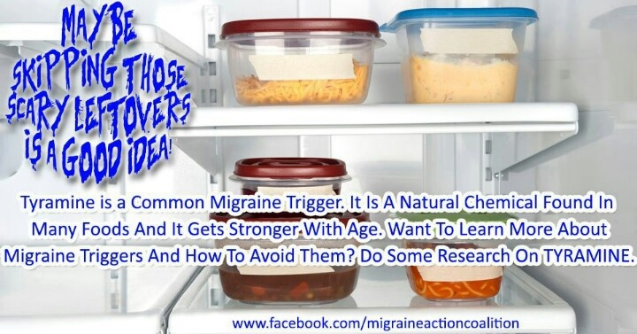 tyramine is a common migraine trigger  it is found in many