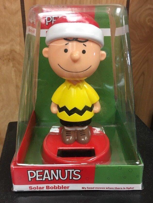 Peanuts Charlie Brown Christmas Solar Dancing Bobbler Bobblehead NEW #Peanuts