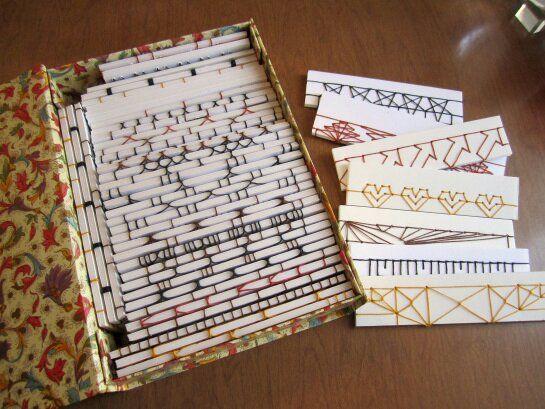 Tuto: encadernação japonesa, variações de costura de quatro pontos.