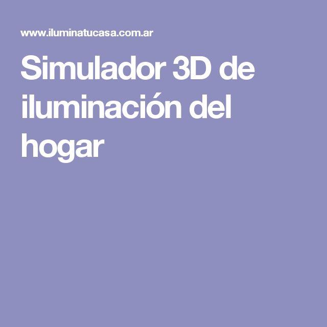 Simulador 3D de iluminación del hogar